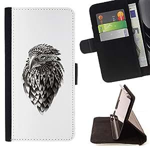 Momo Phone Case / Flip Funda de Cuero Case Cover - Jefe Eagle Hawk;;;;;;;; - Samsung Galaxy A3