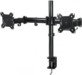 ARCTIC Z2 Basic - Desk Mount Dual Monitor Arm for 13 - 27 Inch I Up to 8kg weight capacity I 360 degree rotation I Easy Monitor adjustment - Black
