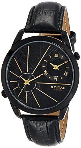 Titan Analog Black Dial Men #39;s Watch NM1707NL01 / NL1707NL01
