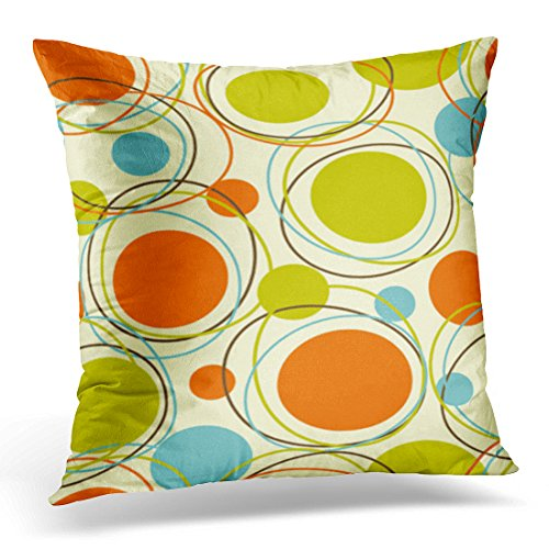 Breezat Throw Pillow Cover Colorful 1950S Retro Abstract Pattern Mid Century Decorative Pillow Case Home Decor Square Pillowcase 51nlb4a7PpL