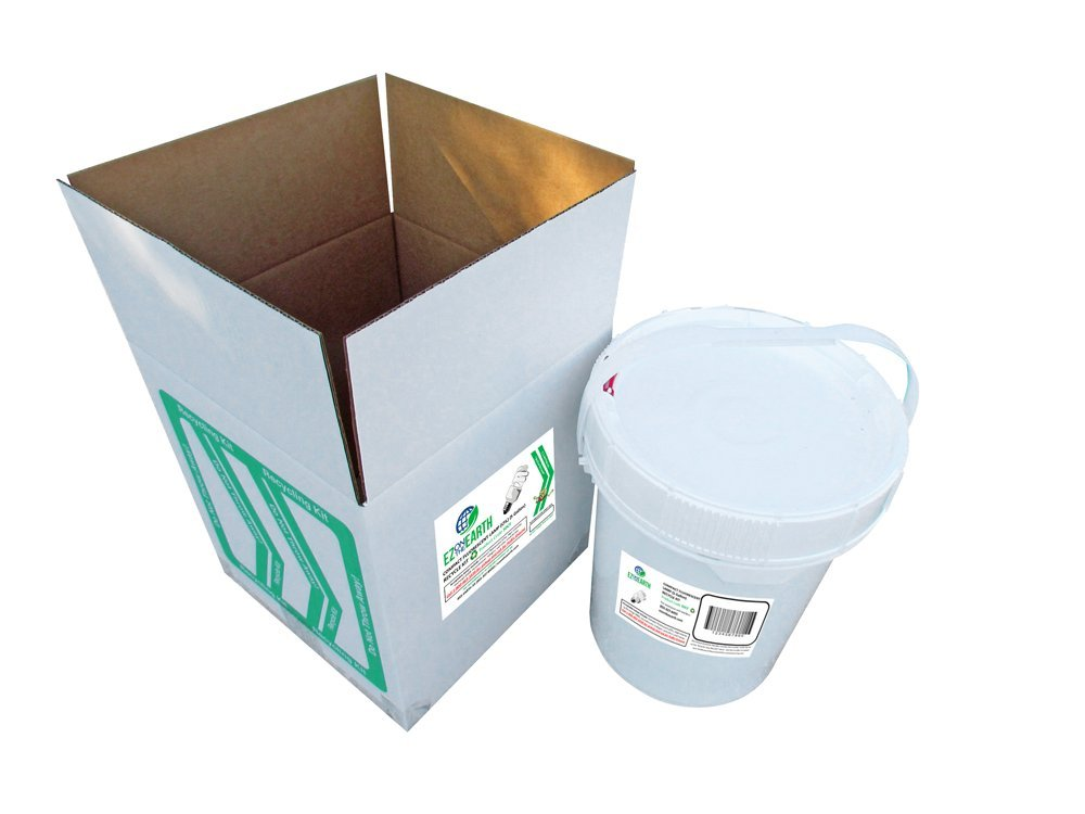 Compact Fluorescent Lamp (CFL) (5.0 Gallon) Recycle Kit by EZ on the Earth (Image #1)