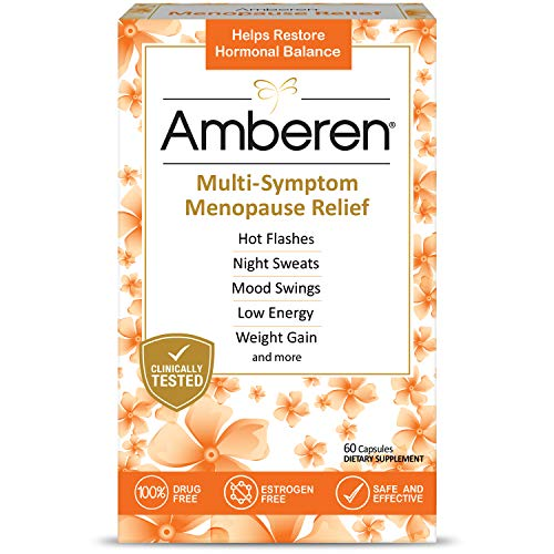 Amberen: Safe Multi-Symptom Menopause Relief. Clinically Shown to Relieve 12 Menopause Symptoms: Hot Flashes, Night Sweats, Mood Swings, Low Energy and More. 1 Month Supply (Best Herbal Supplement For Menopause Symptoms)