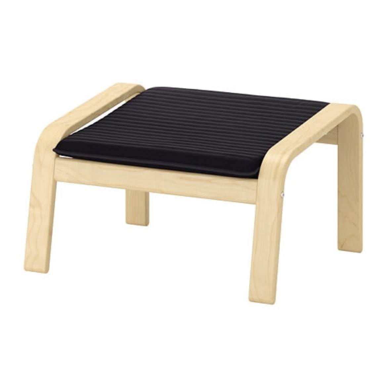 Magnificent Amazon Com Ikea Poang Ottoman Birch Veneer Knisa Black Short Links Chair Design For Home Short Linksinfo