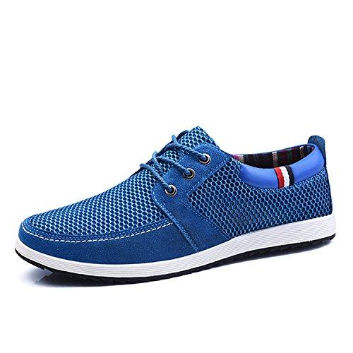 Lace Maglia Tennis S1719 Sneakers Casual Uomo Estate Punta Mocassini Basse Botia Scarpe Royal Blu up Confortevole Scarpe Rotonda tF0Uwcq