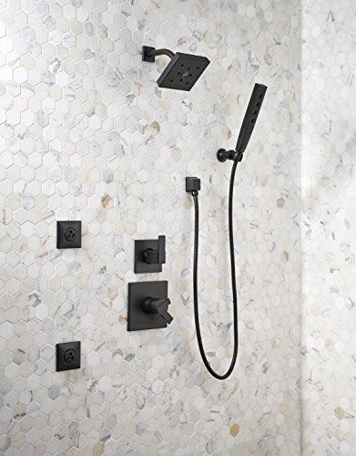 Delta Faucet 55140-BL H2Okinetic 5-Setting Adjustable Wall Mount Hand Shower, Matte Black
