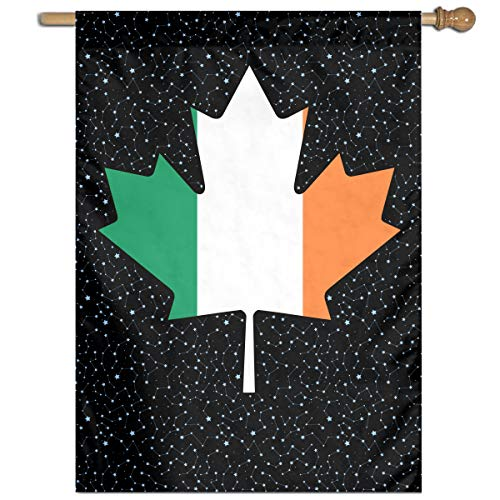 MKLNHBGFCH37 Canadian Irish Flag Maple Leaf Welcome Garden Flag Yard Flag Family Flag 27
