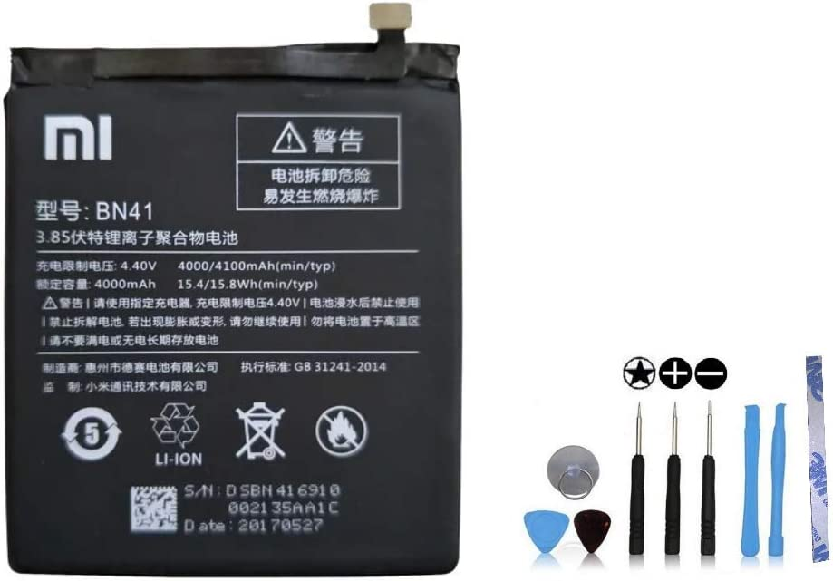 Redmi Note 4 // Note 4 Prime Adh/ésif // Note 4X 64 Go sauf Version Globale Outils offerts Batterie Xiaomi BN41