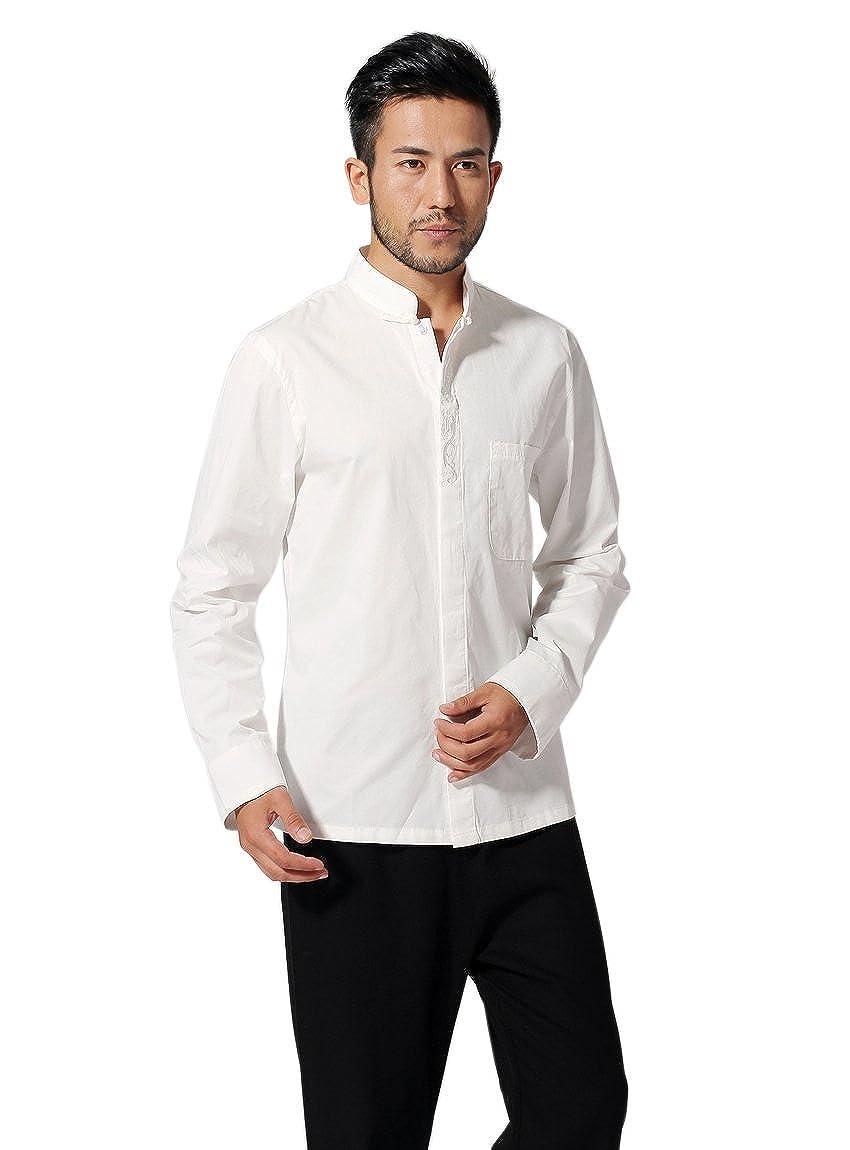 Amazon Bitablue Mens Mandarin Collar Shirt With Chinese Dragon