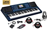 : Casio keyboard MZ-X500 Digital Piano Arranger casio Keyboard 61 Keys piano kit with foot pedal for keyboard Yamaha, Stereo Headphone, Instrument Cable, microphone cable and Zorro Sounds piano Cloth