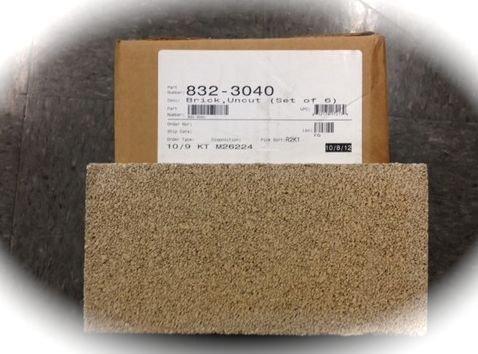 QuadraFire Pumice Bricks - 6 Pack 832-3040 Uncut