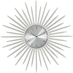 Castallia Silver 28 Round Metal Wall Clock