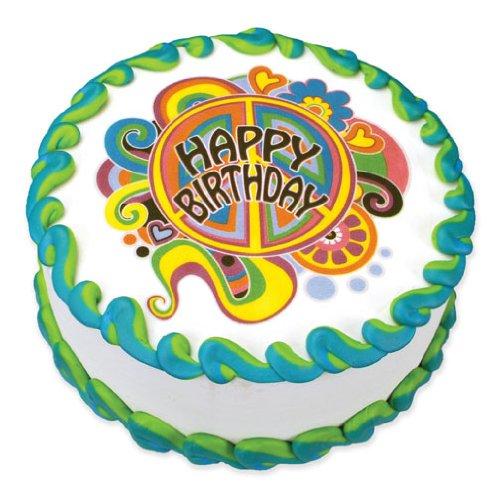 Lucks Edible Image, Groovy Birthday -