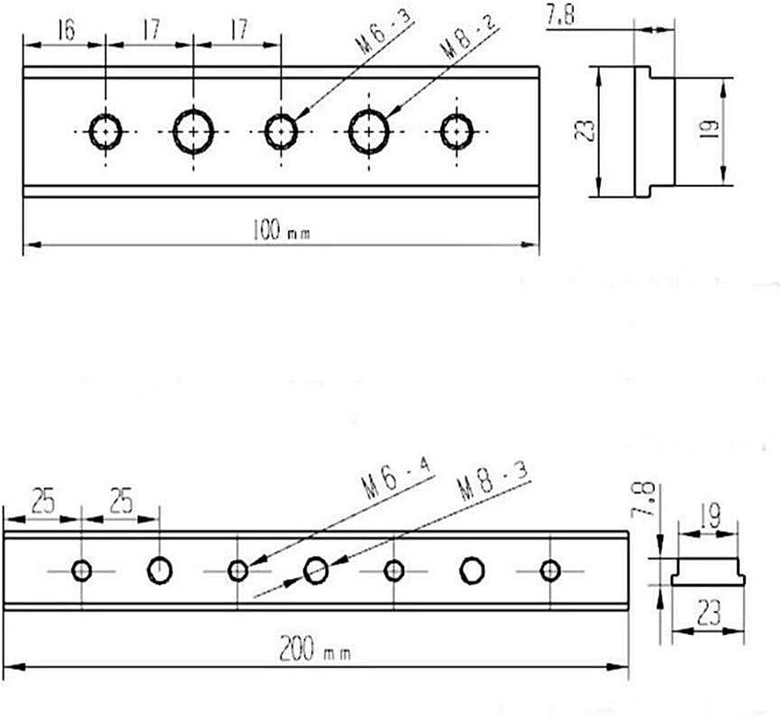 Ironhorse Piste coulissante en T 100 mm