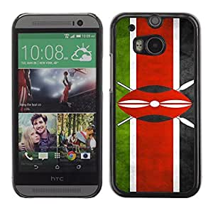 Shell-Star ( National Flag Series-Kenya ) Snap On Hard Protective Case For All New HTC One (M8)