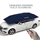 YIKESHU Automatic car umbrella, Carport Automatic Car Tent Sun Shade Canopy Folded Portable Car Umbrella with Remote Control 88x161 inches Navy blue