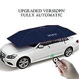 Automatic car umbrella,YIKESHU Carport Automatic Car Tent Sun Shade Canopy Folded Portable Car Umbrella with Remote Control 88x161 inches Navy blue