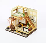 WYD Modern Loft Duplex Apartment Series Japanese-style Dollhouse Miniature DIY House Kit Creative Room With LED Lights Perfect Handmade Gift for Friends,Lovers and Families(Karuizawa's Forest Holiday)