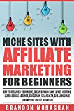 Niche Sites With Affiliate Marketing for Beginners: How to Research Your Niche, Cheap Domain Name and Web Hosting, Learn Google AdSense, ClickBank, SellHealth, CJ and LinkShare (Grow Your Online...