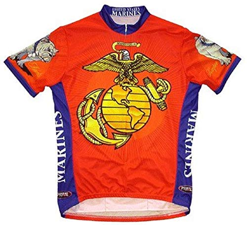 US Marine Corps Cycling Jersey, Small (35-37) (Marines Wear Primal)