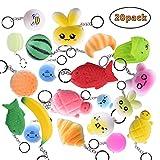 Keychain for Kid LEEHUR 20Pcs Soft Squishy Food Toys...