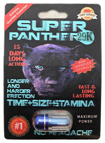 NEW Arrival - Super Panther 29K 3D - Feel even MORE POWER - Time Size Stamina - (20 Pack) LIMITED EDITION PLUS LOVE POTION EXCLUSIVE (Love Panthers)