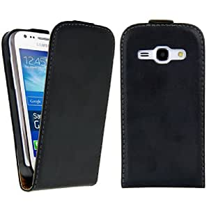 kwmobile Flip style synthetic leather case for Samsung Galaxy Ace 3 with convenient magnetic fastener in black