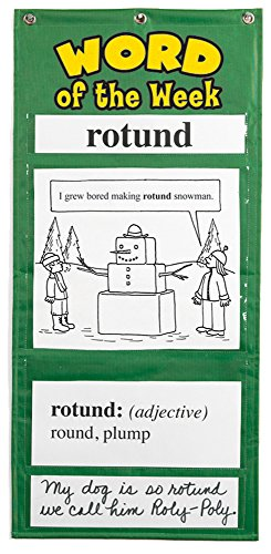Educational Insights Word Of The Week Vocabulary Pocket Chart Grade - Magnetic Hanging Chart Pocket