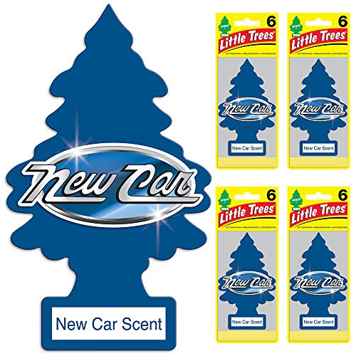 LITTLE TREES auto air freshener, New Car Scent, 6-packs (4 -