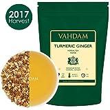 Turmeric Ginger Herbal Tea Tisane (100 Cups), India's Original Detox Tea, ABUNDANT IN ANTI-OXIDANTS & PHYTO-NUTRIENTS - Healing, Rejuvenating & Energizing, Grown & Packed in India, 7oz