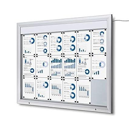 Escaparate Led 18x A4 Aluminio Cuadro de Información ...