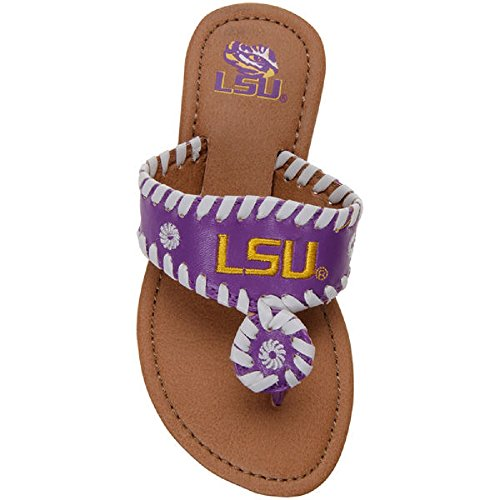 Sandals Louisiana State University LSU Tigers Youth Girls Jackie 13 Y (US), Purple, Gold LSU Tigers