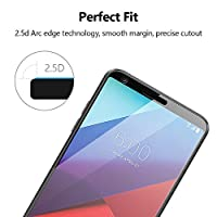"""Eakase LG G6 Screen Protector, 2.5D Curved Edge to Edge Full Coverage Tempered Glass Anti-Scratch Anti-Fingerprint Case Friendly with Lifetime Replacement Warranty for LG G6 2017 5.7""""(Black) from Eakase"""