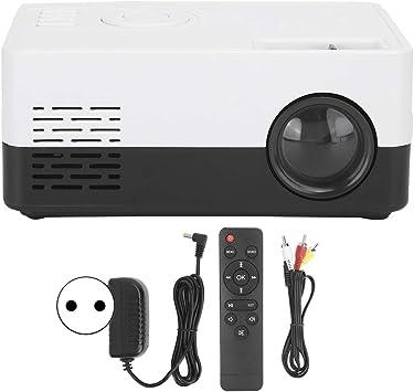 Opinión sobre Proyector de Cine en casa, Mini proyector portátil de Alta definición Full HD 1080P, Proyector LED TFT LCD, Altavoz Integrado, Compatible con AV/USB/HDMI/Tarjeta de Almacenamiento(Blanco)