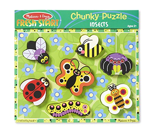 Insects Wooden Chunky Puzzle (Melissa & Doug Insects Wooden Chunky Puzzle (7 pcs))