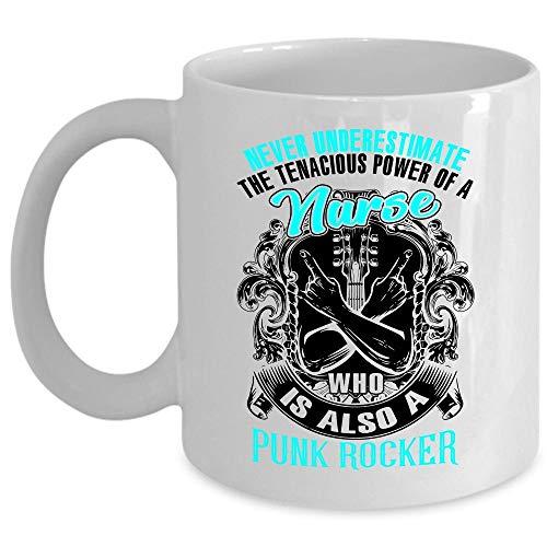 Cool Nurse Coffee Mug, Nurse Who Is Also A Punk Rocker Cup (Coffee Mug 15 Oz - WHITE) ()