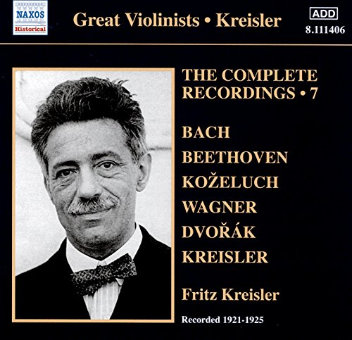Price comparison product image Fritz Kreisler -The Complete Solo Recordings, Vol. 7