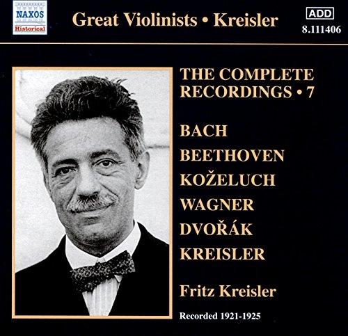 Price comparison product image Fritz Kreisler -The Complete Solo Recordings,  Vol. 7