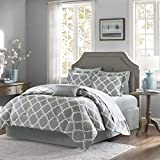Empire Home Annissa Collection Luxurious 10-Piece Geometric Soft Comforter Set & Bed Sheets Limited-Time Sale!! (Gray Geo, California King)