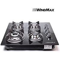 !!! TAX INCLUDED !!! 24 Black Electric Tempered Glass Built-in Kitchen 4 Burner Gas Cooktop