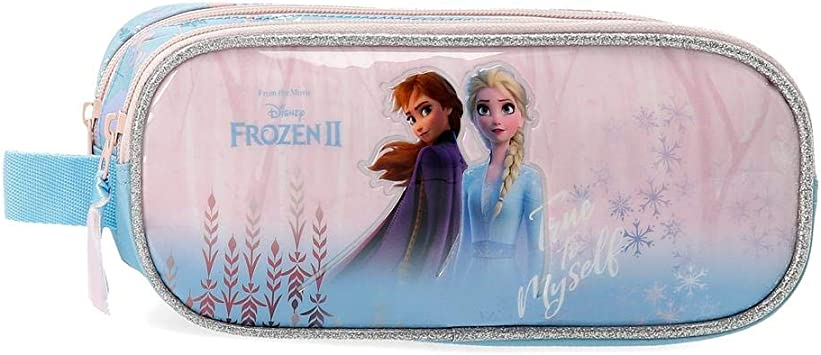 Disney Estuche Frozen True to Myself con dos Compartimentos, Azul: Amazon.es: Equipaje