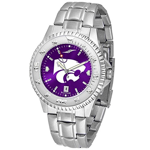 (SunTime Kansas State Wildcats Competitor AnoChrome Men's Watch with Steel Band)