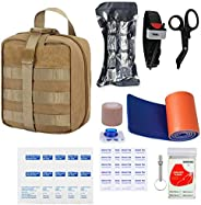 GRULLIN Survival First Aid Kit, 39 Pieces Tactical Molle EMT IFAK Pouch Emergency First Aid Survival Kits Trau