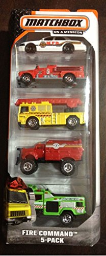 2014 Matchbox Fire Command 5-Pack