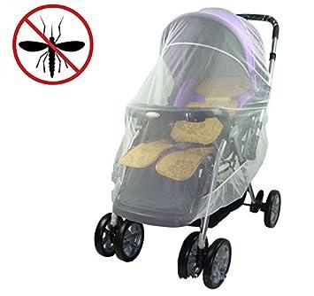 Mückennetz Insektenschutz Moskitonetz für Zwillings Shopper Sportwagen weiss