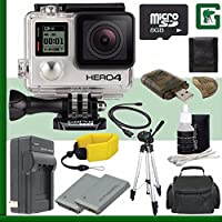 GoPro HERO4 BLACK 4K Action Camera + 8GB Greens Camera Bundle 1