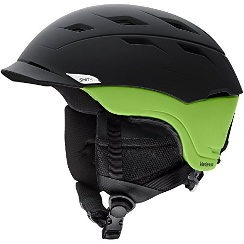 Smith Optics Variance Adult Ski Snowmobile Helmet - Matte Black/Flash/Large ()