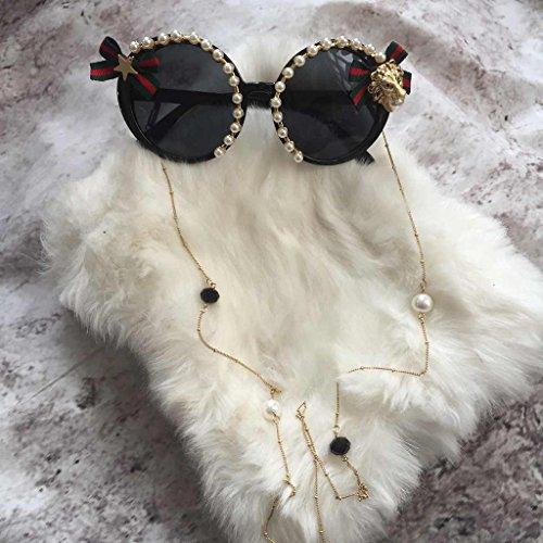 con protecciónn Barroco LYM amp; Balneario de Gafas 5 de amp;Gafas sol Color flecos Piedras X666 Gafas Playa 5 redondas preciosas de Gafas sol twtpq7xC