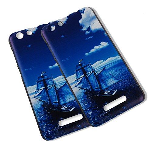 Guran® Plástico Hard Funda Cascara para Cubot Note S / Cubot Dinosaur Smartphone Bumper PC Case Cover-Gato en amor con pescado color09