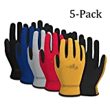 Vgo Glove Artificial Leather Work Gloves(5-Pairs)