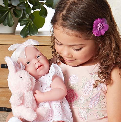 "51nlhzS5%2BwL - JC Toys La Newborn Baby Play Dolls, White, Pink, 15"""
